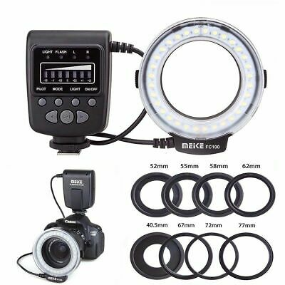 Meike Macro Ring Flash/ light FC100 For Canon Nikon Pentax Olympus DSLR Camera