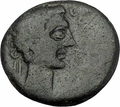 AUGUSTUS 27BC Thessaly Koinon ATHENA Authentic Ancient Roman Coin RARE i47213