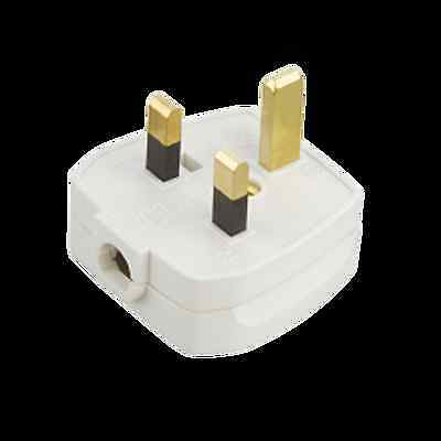 5 x 13Amp Rough Use Plug Top White Fused