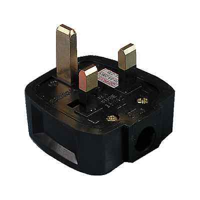13 Amp rough use Plug Top 13 Amp Fused - Black