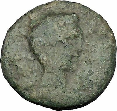 AUGUSTUS 27BC Thessaly Koinon ATHENA Authentic Ancient Roman Coin RARE i47242