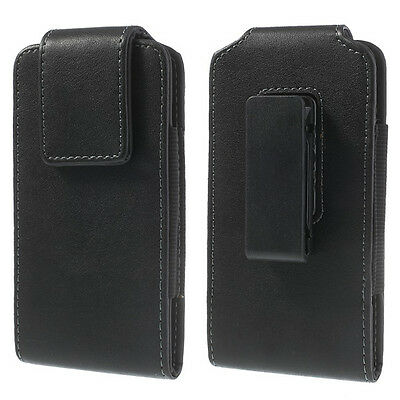 Leather 360 Swivel Belt Clip Pouch Case Holster Various Mobile Phones + See All