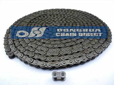 Donghua Roller Chain, ANSI #25 (25-1), 10Feet with 2 Master Links