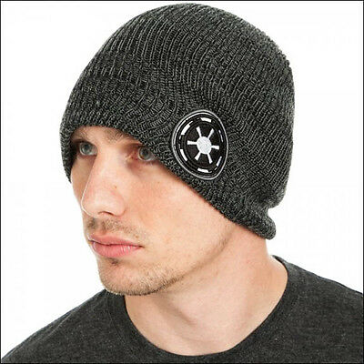Star Wars Imperial Galactic Empire Costume Roll Slouch Knit Cuff Beanie Cap Hat