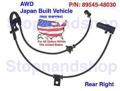 New ABS Wheel Speed Sensor for RX330 RX350 RX400h AWD JDM Rear Passenger RR