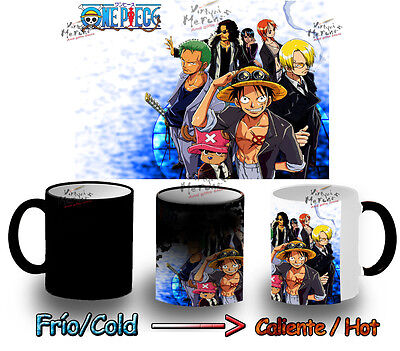 TAZA MAGICA ONE PIECE CONJUNTO coupe anime manga tazza mug tasse magic mágica