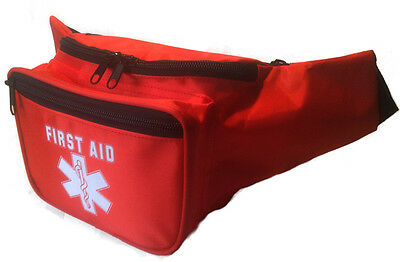 Reduced price, High quality, empty first aid bum bag with 3 compartments