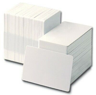Blank White PVC Plastic ID Cards CR80 - 760 Micron Qty's 10-1000 Free P&P