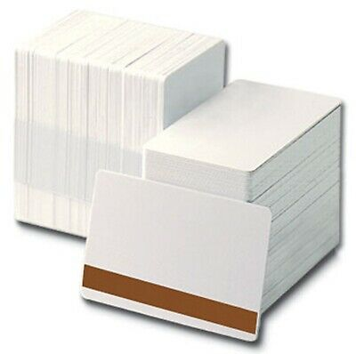 Blank White Lo-Co PVC Plastic ID Cards CR80 - 760 Micron Qty's 10-1000 Free P&P