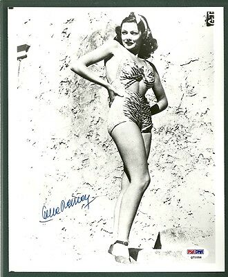 Gene Tierney signed photo Autographed PSA/DNA Nice!!