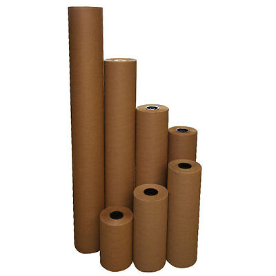 """15"""" 40 lbs 900' Brown Kraft Paper Roll Shipping Wrapping Cushioning Void Fill"""