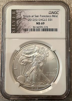 Lot Of 10-2012-(S) American Silver Eagle NGC MS69 - Stunning Coins