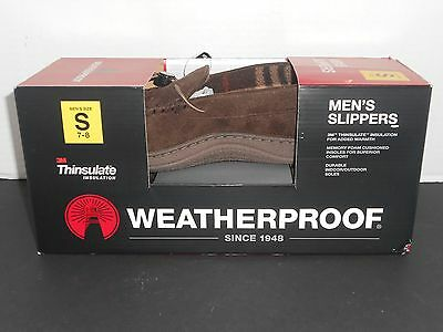 New 3M Thinsulate Insulation Weatherproof Men's Slippers (Small Size 7-8) New