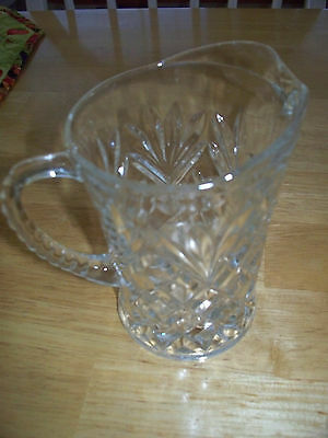 ANTIQUE CLEAR CUT GLASS PITCHER POST 1940