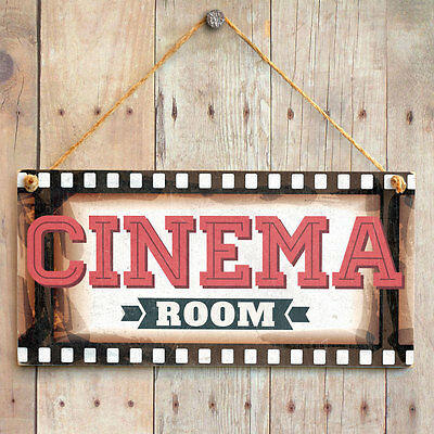 Cinema Room - Film Frame Home Theatre Sign. Gift For Dad, Kids, Man Cave, Den