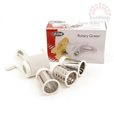 D.line Rotary Grater with 3 Drums! Ideal for Cheese and Hard Chocolate!