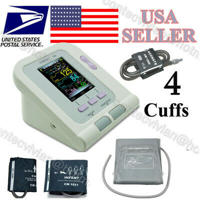 US USPS,CONTEC08A Digital Arm Blood Pressure Monitor Infant/Adult 3 Cuff NIBP