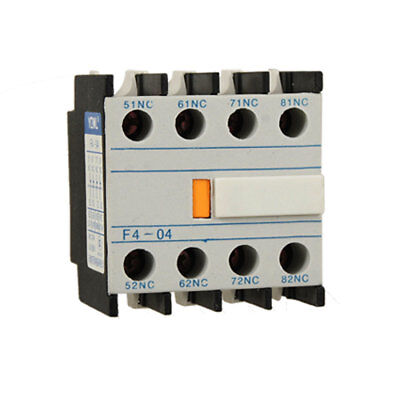 Auxiliary 4 NC Contacts Block Switch for AC Contactor