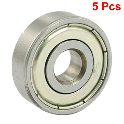627ZZ 7 x 22 x 7mm Metal Shielded Deep Groove Ball Bearings 5 Pcs