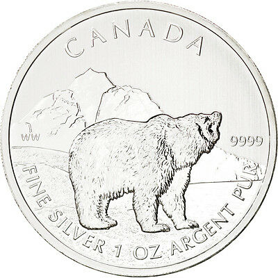 Monnaies, Canada, 5 Dollars Grizzly 2011, 1 once Argent, KM 1109 #88754