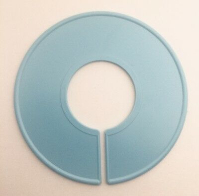 20 QTY Blank Blue Plastic Clothing Size Dividers Rack Ring Closet Divider