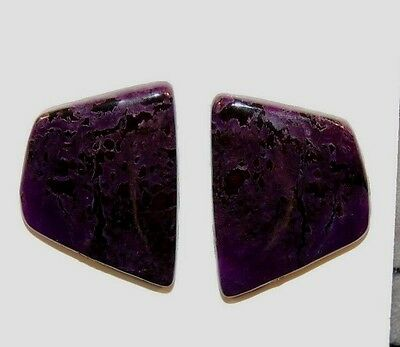 Sugilite Cabochons Pair of 23x17mm from South Africa  (8466)