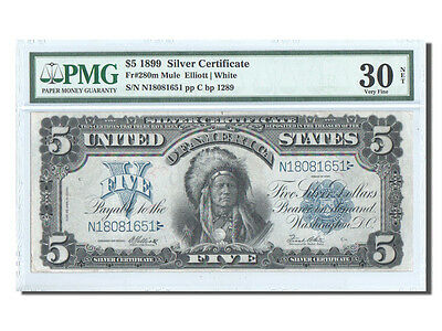 [#25405] United States, 5 Dollars Silver Certificates 1899, PMG VF 30, Pick...