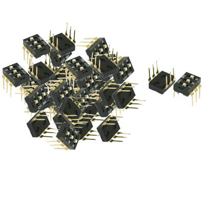 50 Pcs 2.54mm Pitch 3 Position Slide Type DIP Switches
