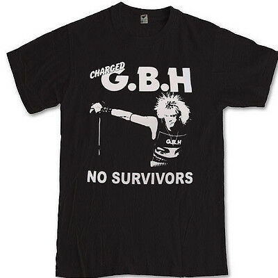 Charged GBH tee punk rock band Discharge Broken bones S M L XL 2XL 3XL t-shirt