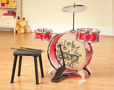 Collections Etc Kid Size Big Band Drum Instrument Set - 8 Pc