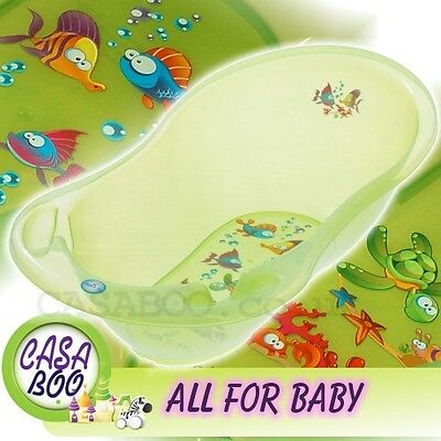 AQUA  LUX  Large Baby Bath Tub with   thermometer  - 102 cm - Great Price GREEN