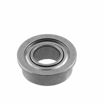 10mm x 5mm x 4mm Silver Tone Sealed Premium Flanged Ball Bearing