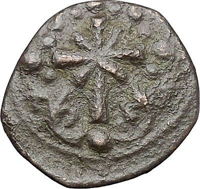 JESUS CHRIST Class I Anonymous Ancient 1078AD Byzantine Follis Coin CROSS i47448