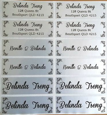 56 Light Silver Personalised Name Labels -  Large (46*15mm)
