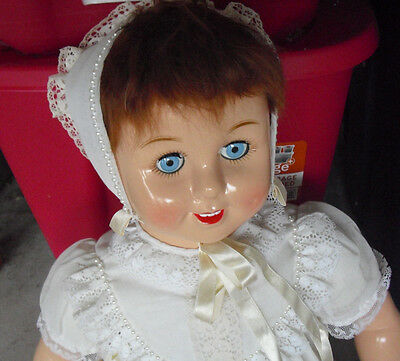 "BIG 1993 Limited Edition Horsman Plastic Cloth Rosebud Girl Doll 27"" 1206"