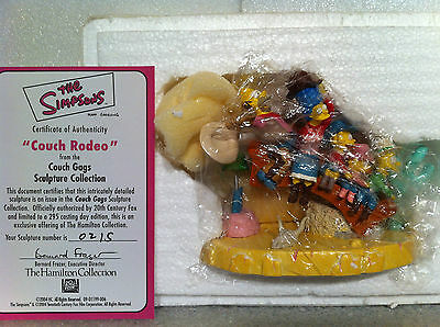 Simpsons Hamilton Sculpture Couch Gags Couch Rodeo Limited Edition Figure New
