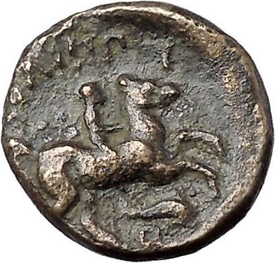 Philip II Alexander the Great Dad Ancient Greek Coin Horse DOLPHIN  i47511
