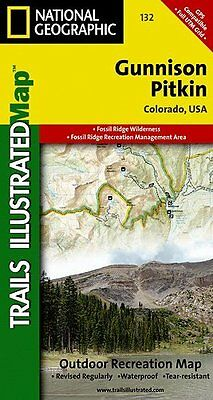 National Geographic Trails Illustrated Colorado Gunnison Pitkin Topo Map 132