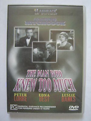 THE MAN WHO KNEW TOO MUCH ~ Alfred Hitchcock dvd ~ REGION 4 PAL ~ FREE POST