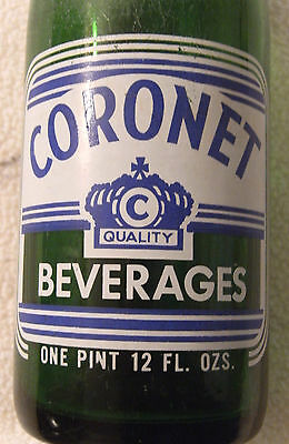 CORONET Beverages, , 28 oz., Worcester, Mass.  1971