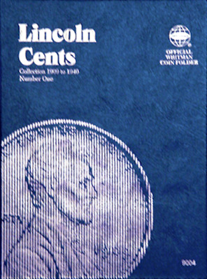 Whitman Lincoln Cents Penny Coin Folder Book #1 1909-1940 #9004