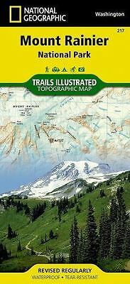National Geographic Trails Illustrated WA Mount Rainier National Park Map 217