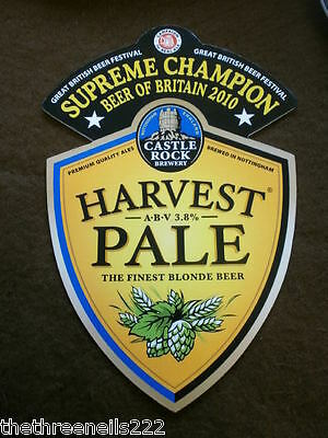 Beer Pump Clip - Castle Rock Harvest Pale - Supreme Champion