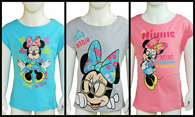 Girls Disney Minnie Mouse short Sleeve T-Shirt 100% cotton age 4 years