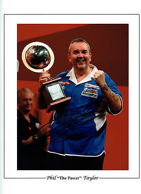 Phil TAYLOR THE POWER Signed Autograph World Champion Darts 16x12 Photo AFTAL