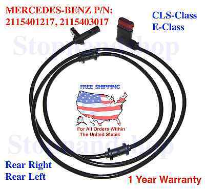ABS Wheel Speed Sensor for Mercedes-Benz W211 W212 Rear Driver or Passenger Side
