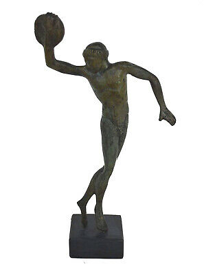 Discus Thrower Athlete Small Bronze Statue - Olympic Games  - Discobolus