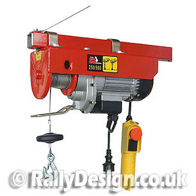Big Red Electric Hoist – Max 500kgs (Double Hook) - SWE028