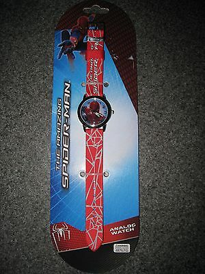Nip Boys The Amazing Spiderman Red Analog Watch Free Shipping