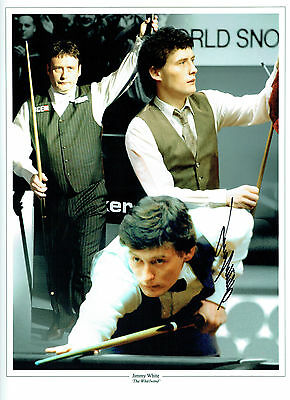 Jimmy WHITE Signed Autograph MASSIVE 16x12 RARE Snooker Montage Photo AFTAL COA